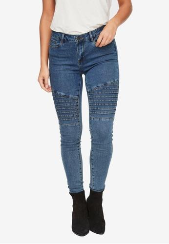 Vero Moda blue Hot Seven Mr Biker Jeans 96F54AA328D673GS_1