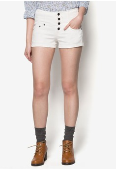 Cotton Shorts with Button