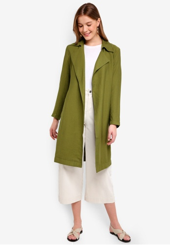 The Fifth Label green Crew Trench Coat D8C10AA1CFAD4AGS_1