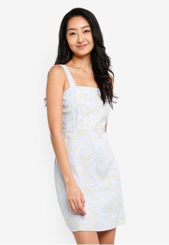 Cotton On 多色 吊帶褶飾洋裝 CB85CAAD6F4FBCGS_1