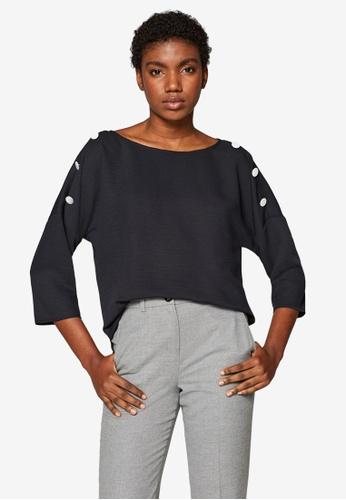 ESPRIT 黑色 蝙蝠袖上衣 2DA56AA5744972GS_1