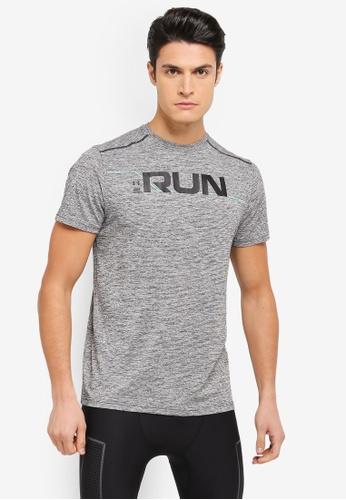 Under Armour black UA Run Front Graphic T-Shirt UN337AA0SU8CMY_1