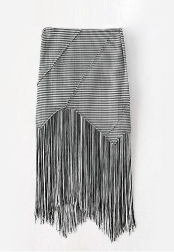 Sunnydaysweety black New Long Tassel Skirt C032256 BCB9AAA4770344GS_1