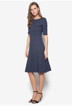 Melange Short Sleeve Dress