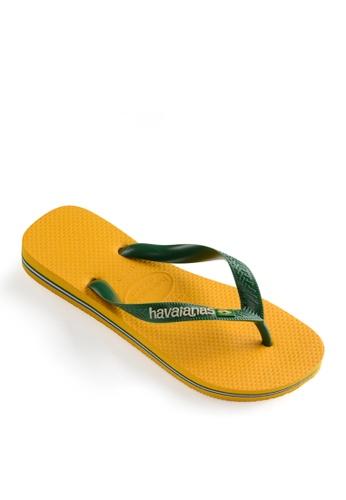 Havaianas yellow Brasil Logo Flip Flops 01122SHDF25945GS_1