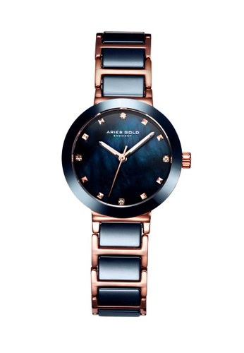 Aries Gold blue Aries Gold Enchant Persia Rose Gold and Blue Watch 98DC0AC1076B4DGS_1