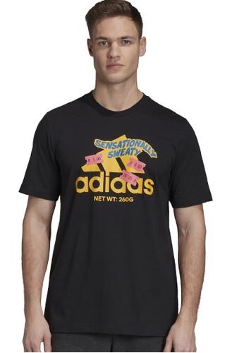 ADIDAS black athletics mens graphic t-shirt 03F06AAA3F10EAGS_1