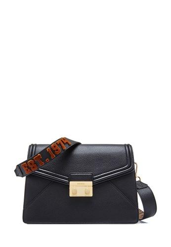 BONIA black Black York Shoulder Bag M D4E04ACBF41443GS_1