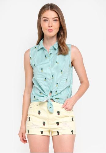 ONLY yellow Marisol Sleeveless Shirt 81EBAAAEA5B89EGS_1
