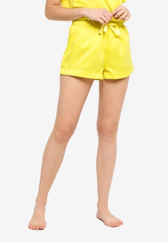 Supre yellow Satin Sleep Shorts FB5B7AA33E912CGS_1