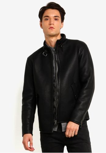 ESPRIT 黑色 Outdoor 皮外套 CD1E3AACB0C7F2GS_1