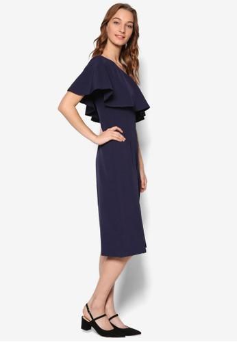 Morine 荷葉飾單肩領連身褲esprit女裝, 服飾, 服飾