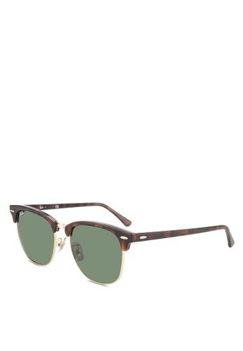 Ray-Ban brown Clubmaster RB3016 Sunglasses RA896GL63GSQMY_1
