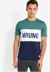 Wrung multi and navy Russell T-Shirt WR395AA92MPJMY_1