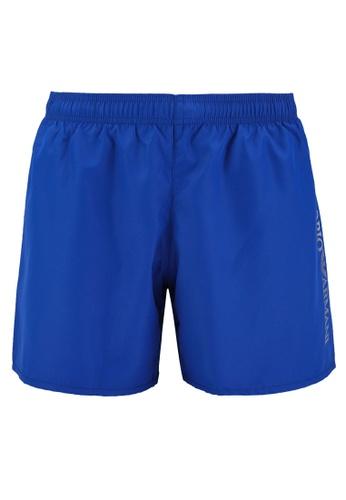 EA7 blue Sea World Bw Silver Logo Swim Shorts 5A297US091B0E0GS_1