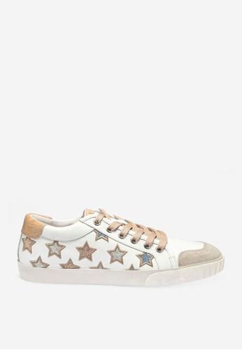 ASH 白色 Majestic - 米灰色星形元素運動鞋 A9A65SH0F4A784GS_1