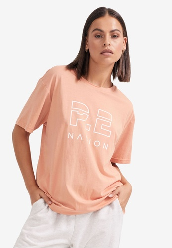 P.E Nation pink Heads Up Tee 36AD6AAC6D6713GS_1