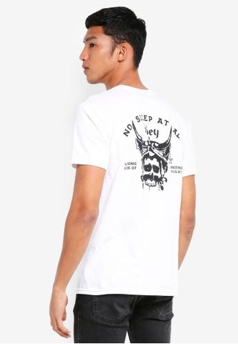 OBEY white No Sleep At All T-Shirt AE51BAA4C7B429GS_1