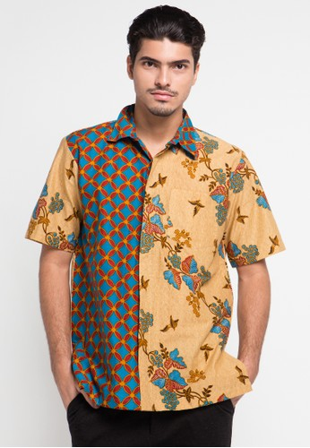 Danar Hadi brown Kemeja Pendek Batik Print Motif Lereng Kukilo Latar Galar DA893AA0UL38ID_1