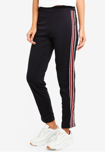Max Studio navy Knit Athletic Stripe Pants 5CDCDAAD929610GS_1