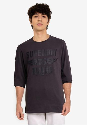 Superdry 黑色 黑色 Out 長袖上衣 - Original & Vintage 3B8CDAA8962B54GS_1