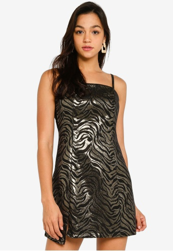 Mink Pink black and gold Friday Forever Mini Dress 7F983AAA49C489GS_1