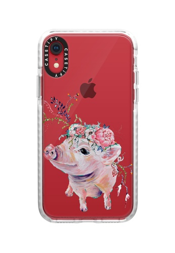 Casetify white Pearl The Pig Impact Protective Case for iPhone XR 4A12AAC4FEF142GS_1