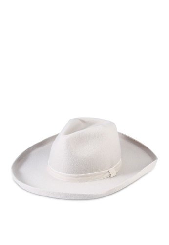 Rubi white Andie Flipped Brim Rancher Hat 3A761AC1261CAAGS_1