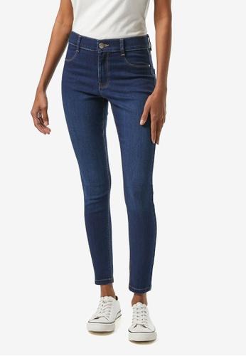 Dorothy Perkins blue PETITE Indigo Frankie Denim Jeans 7BDD0AA342B75BGS_1