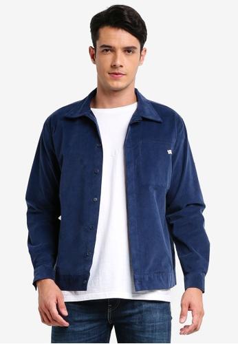 Pestle & Mortar 海軍藍色 休閒燈芯絨襯衫外套 40D72AAF9CA8B9GS_1
