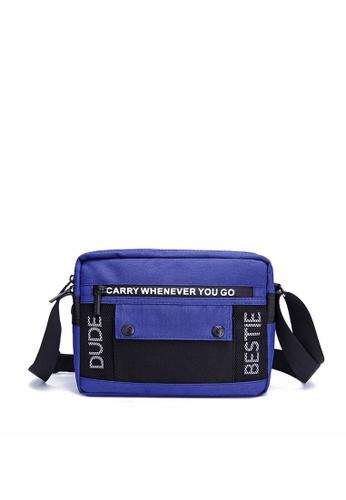 The Dude navy Stereo Messenger Bag CEB83AC7B88E7CGS_1