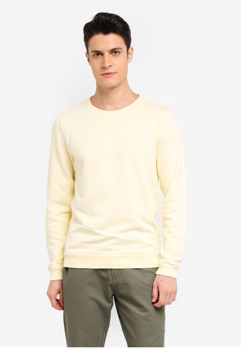 Jack Wills yellow Cruxton Core Crew Sweatshirt 574B5AA9A8E1B1GS_1