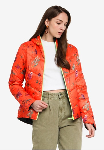 Desigual orange Reversible Folding Floral Jacket 81849AA6716972GS_1