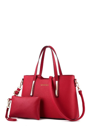 TCWK red TCWK Set of 2 pcs Red Ladies Handbag TC258AC0RR6AMY_1