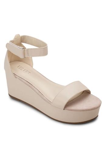 Victoria 厚底包跟涼鞋, 女鞋, esprit tst楔形涼鞋