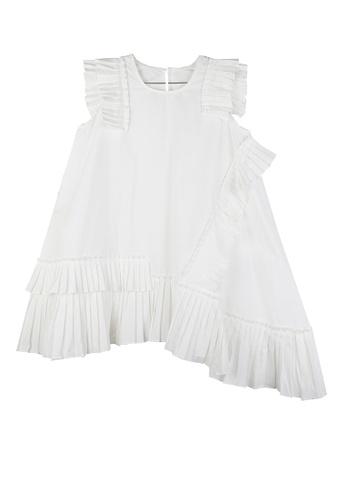 Twenty Eight Shoes white VANSA Irregular Pleated Midi Dress  VCW-D1111 0FDD5AAEF91039GS_1
