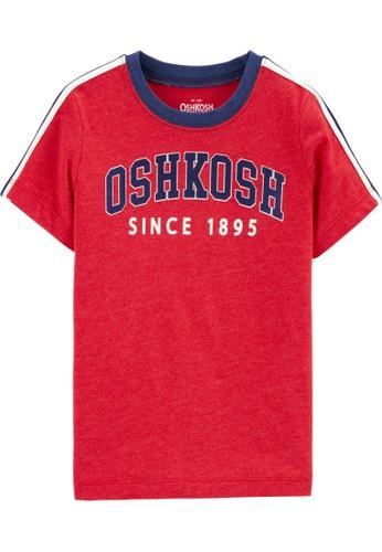 Oshkosh B'gosh red OSH KOSH Boy Logo Short Sleeve Ringer Tee C0E73KA2D3CD44GS_1