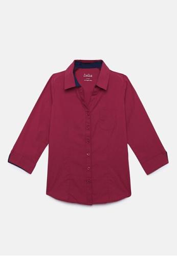 ZALZA red 100% Organic Cotton Tansa Girls Fashion Top - Red 3FAC6KAAF177ECGS_1