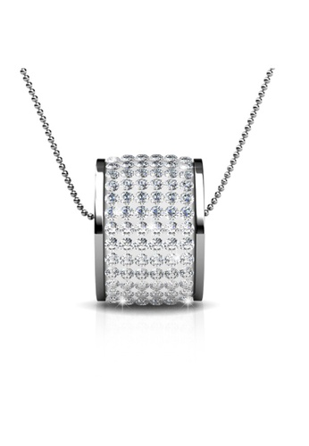 Her Jewellery silver Her Jewellery Roller Pendant (White) with Necklace Chain with 18K Gold Plated 0A60DAC76F7CC2GS_1