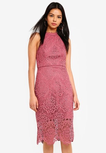 Forever New pink Beverley Lace Pencil Dress 7A92BAA4E8978BGS_1