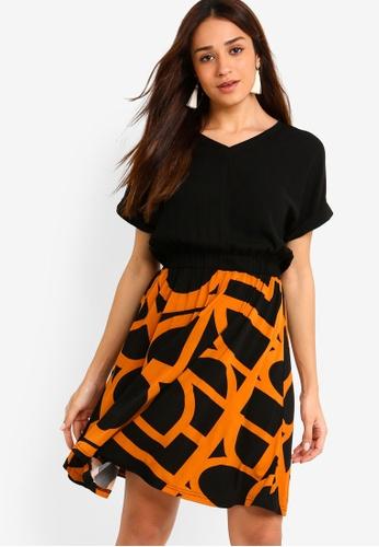 ZALORA black and multi Mix Materials Dress A40E1AA8EA89D8GS_1