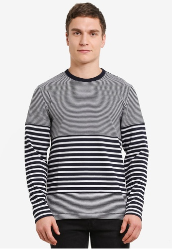 French Connection multi Double Face Stripe Tee FR878AA0SE5GMY_1