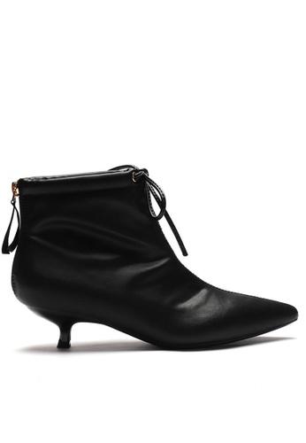 Twenty Eight Shoes black Synthetic Suede Ankle Boots 1592-8 3EA9DSH23B51E5GS_1