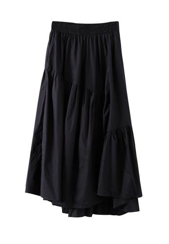 HAPPY FRIDAYS 黑色 高腰百搭A字半身裙JW OF-7958 7D968AA3542665GS_1