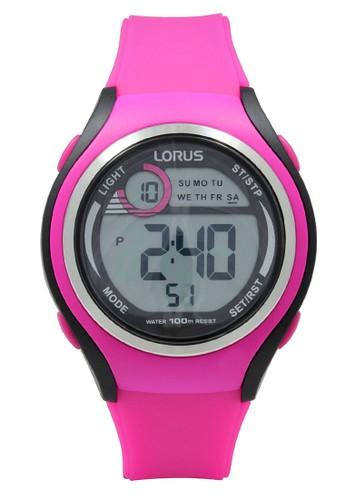 Lorus pink LORUS Jam Tangan - Pink Black - Silicon - R2383LX9 BEC13AC0D0E306GS_1