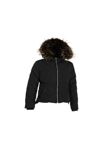Universal Traveller black Universal Traveller Classic Chevron Quilted Down Jacket 489A8AAE9106CCGS_1