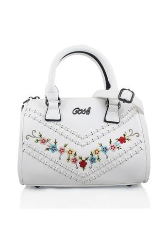 GOSH white Amaryllis-227 Flower Hand Bag 9897DAC8D763C2GS 1 63463d8c8c