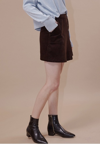 OUTSTANDING ORDINARY brown Palette Mini Skirt OU203AA0GIGESG_1