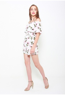 d65e3257e31 In The Name Of Love Floral Romper In White 361D4AABF97F13GS 1