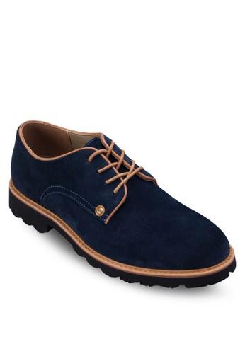 配色esprit 兼職繫帶麂皮休閒鞋, 鞋, 男鞋
